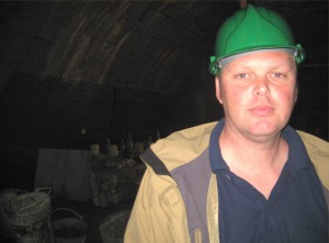 Me standing in the Williamson Tunnels.