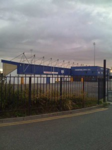 The football ground of Chester City.
