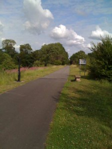 The long, straight, flat cycle route.
