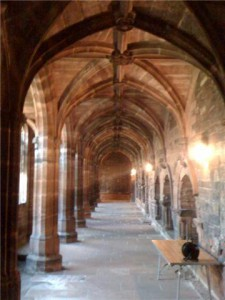 One of the walkways inside the Cathedral.