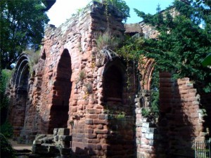 The ruins at St John's Church