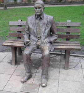 The Statue of Alan Turing in Manchester Gay Village.