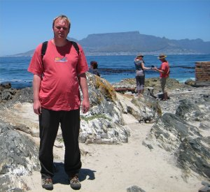 Me standing in front of Table Mountain in Capetown.
