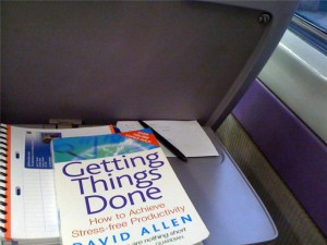 Reading Get Things Done, on the train to Manchester.