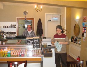 Nathans new Cafe on Garden Lane.