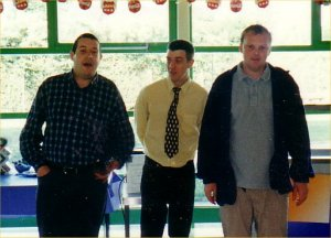 The Corning staff canteen. Picture with Matt Bridges and Mike Delafield.