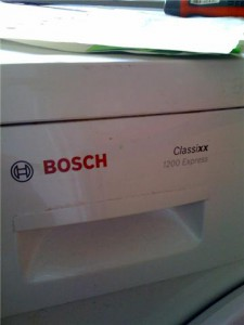 The washing machine I fixed.