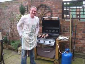 Tony with the Barbeque