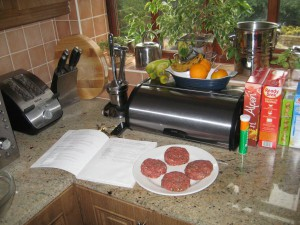 Tony's home made Burgers.
