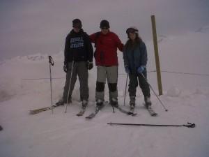 Jon Ski-ing with his children during the Easter Break.
