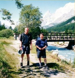Frank and I in Italy, doing the Tour De Mont Blanc