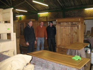 Me at Antique Pine furnature's superb facility in Mickel Trafford.