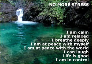 An affirmation card I found on the internet. Mine aren't as poncy as this.