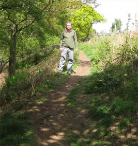 Me in the Sunshine. It was nice to be back on the trail again.