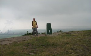 Me standing on Helsby Hill, after nearly 10 years.