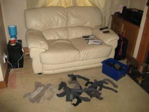 Pairing up my sockes on Saturday Morning.