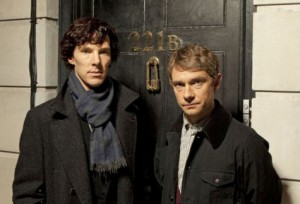 The superb series Sherlock, on BBC.