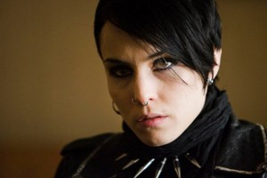 Noomi Rapace as Lisbeth Salander in the Girl with the Dragon Tatoo.