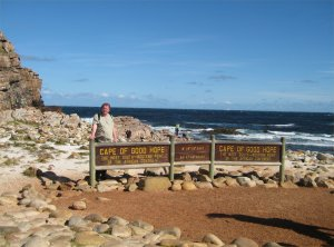 Me standing at the Cape of Good Hope in South Africa.
