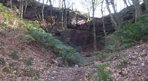 Some of the sandstone, where the trail takes its name.