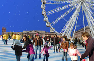 Ice skating and the Chester Wheel