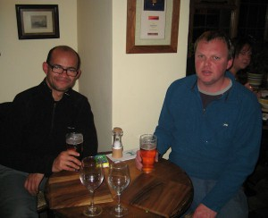 Tony and I in the Pheasant Pub in Berwardsley