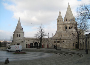 The Fisherman's Bastion on Castle hill, Budapest.