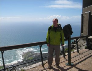 Me standing on the top of Table mountain, in Capetown South Africa.