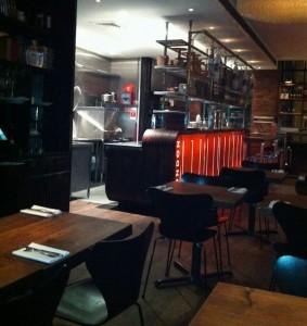 Inside Jamie Oliver's 15 Restaurant.