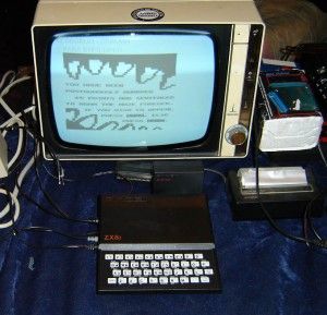 ZX81 setup at home.