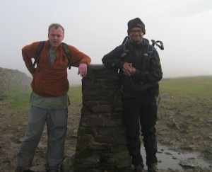 Tony and I walking the 3 Peaks in Yorkshire.