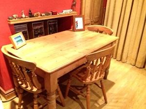 My refurbished pine table