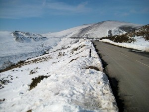 Road accross the Llangollen hills