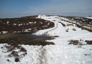 Walking along the tops of the Clwydian ranges