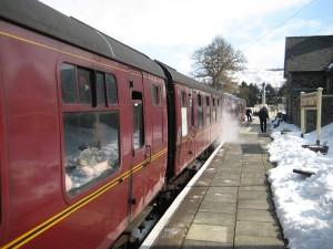 We arrive at Glyndyfrdwy station
