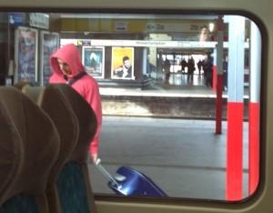 Passing through Wolverhampton station