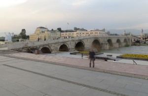 The Stone Bridge in Skopje, Macedonia