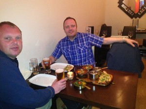 Dinner at the Hoole curry house