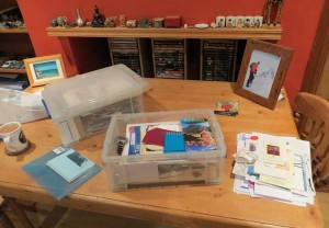 My memories box, which I open each year on my birthday