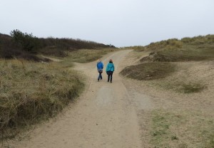 Walking near the coast