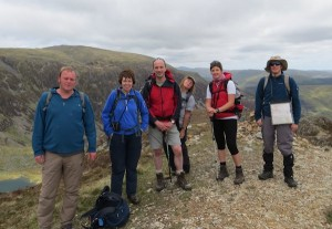 The walking group on Cader Idris