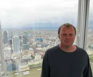 Me, with a view over London