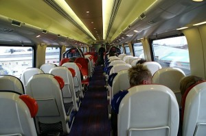 Travelling on a virgin train