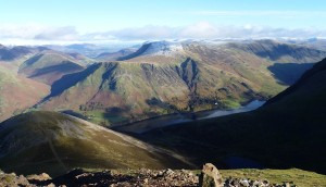 Buttermere lake from Red Pike