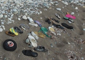 Some shoe art I saw on the beach in Cyprus