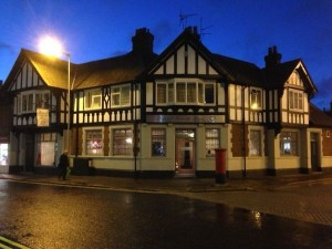 The Railway pub, now converted to a funeral home