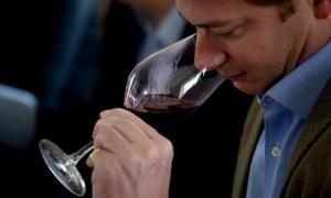 Man tasting wine.