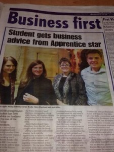 Glenn's son Jack in the paper