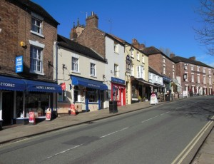 Shops and bars in Ironbridge