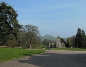 Church in the grounds of Ilam hall